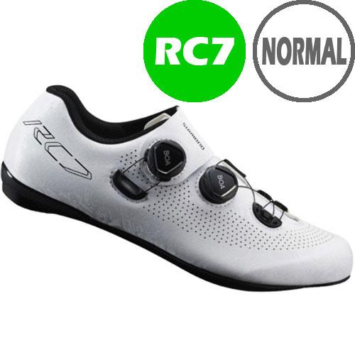 シマノ RC7(SH-RC701) ホワイト ノーマルタイプ SPD-SL シューズ BOA
