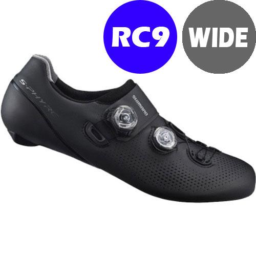 【現品特価】シマノ RC9(SH-RC901) ブラック ワイドタイプ SPD-SL シューズ BOA 190809