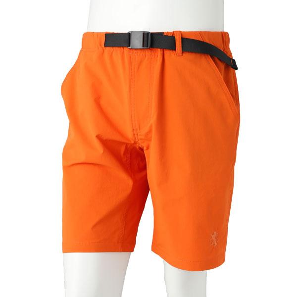 送料無料 カペルミュール 国際ブランド 年末年始大決算 ストレッチハーフパンツ バックルベルト付き オレンジ