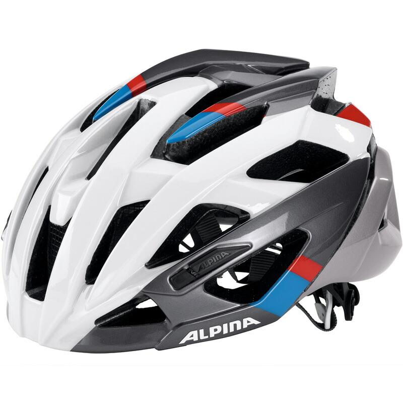 アルピナ VALPAROLA RC ホワイト/ダークシルバー/ブルー/レッド ヘルメット