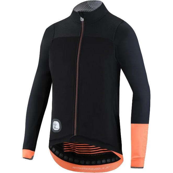 ドットアウト Antartica Wool Jacket 92F.ブラック/フルオオレンジ