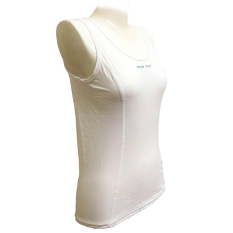 送料無料/ フリーズテック 冷却インナーシャツ ノースリーブ ホワイト レディース 氷撃