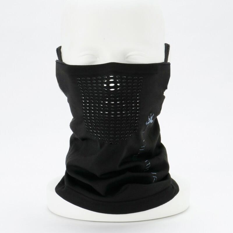 高い素材 送料無料 価格 カペルミュール シームレスマスク ブラック コンフォート ネックウォーマー