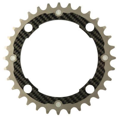 CarbonTi チェーンリング 104mm ミドル チタン/カーボン 32T 【自転車】【マウンテンバイクパーツ】