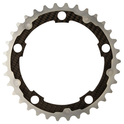 CarbonTi チェーンリング 110mm インナー (カンパニョーロ用) シルバー 【自転車】【ロードレーサーパーツ】
