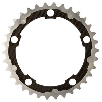 CarbonTi チェーンリング 110mm インナー (シマノ用) シルバー 【自転車】【ロードレーサーパーツ】