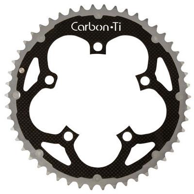 CarbonTi チェーンリング 110mm アウター (カンパニョーロ用) 50T シルバー 【自転車】【ロードレーサーパーツ】