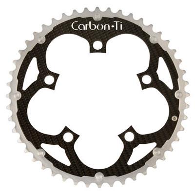 CarbonTi チェーンリング 110mm アウター (シマノ用) シルバー 【自転車】【ロードレーサーパーツ】