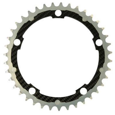 CarbonTi チェーンリング 135mm インナー (カンパニョーロ用) シルバー 【自転車】【ロードレーサーパーツ】