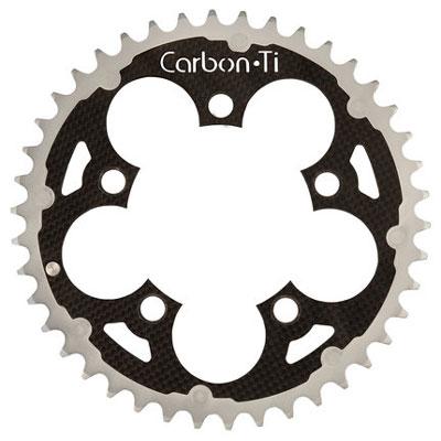 CarbonTi チェーンリング 94 mm アウター アルミ/カーボン ダブル・トリプル シルバー 【自転車】【マウンテンバイクパーツ】