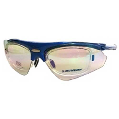 ダンロップ DU-002-6 メタリックブルー (はね上げタイプ) 無料度付レンズ付きサングラス 【自転車】【ヘルメット・アイウェア】【サングラス】