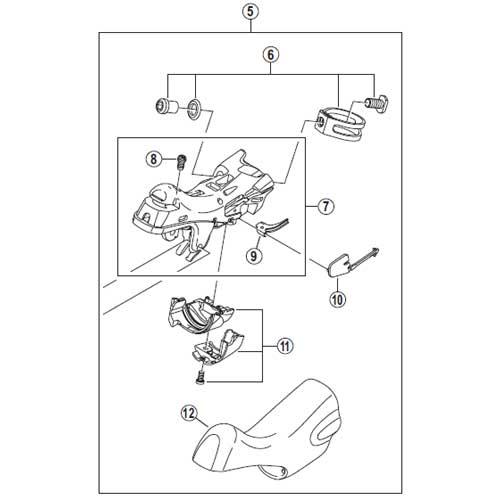 [5]ブラケットユニット(左用) 【自転車】【ロードレーサー用】【ULTEGRA】【ST6800用スモールパーツ】