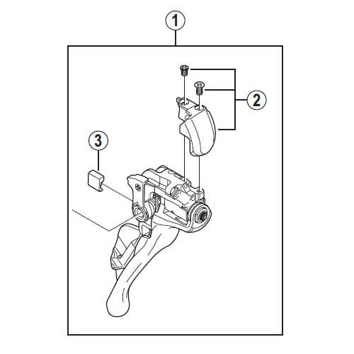 [1]メインレバー組立品(左用) 【自転車】【ロードレーサー用】【DURA-ACE】【ST-9000用スモールパーツ】