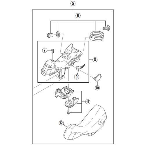 [5]ブラケットユニット(左用) 【自転車】【ロードレーサー用】【DURA-ACE】【ST-9000用スモールパーツ】