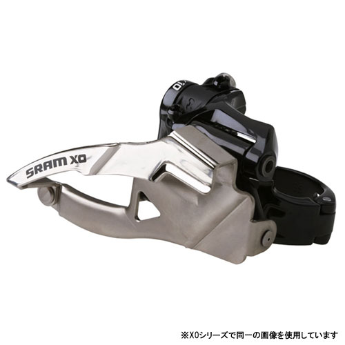 スラム X0 クランプ 2×10 フロントディレーラー (Low) ボトムプル 31.8/34.9mm 38/36T【自転車】【マウンテンバイクパーツ】