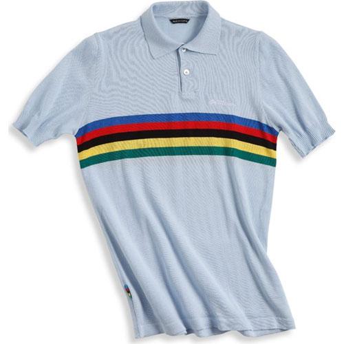 【現品特価】デマルキ チャンピオンポロ ライトブルー【自転車】【ウェア】【ショートスリーブウェア】【デマルキ】