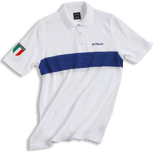 【現品特価】デマルキ イタリア コットンサイクリングポロ ホワイト【自転車】【ウェア】【ショートスリーブウェア】【デマルキ】