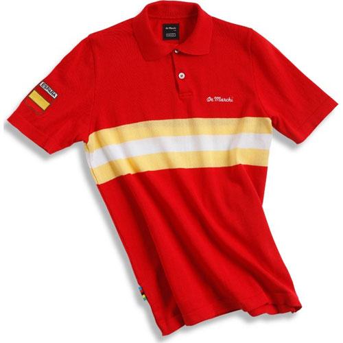 【現品特価】デマルキ スペイン コットンサイクリングポロ レッド【自転車】【ウェア】【ショートスリーブウェア】【デマルキ】