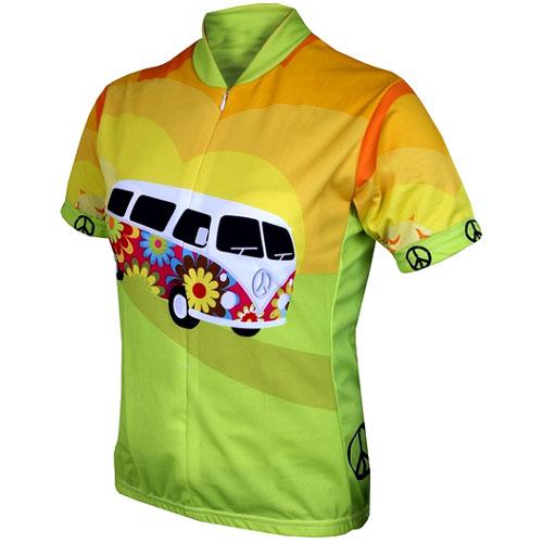 【現品特価】ワールドジャージ Ladies Hippie Van Jersey (レディース)【自転車】【ウェア】【ショートスリーブウェア】【ワールドジャージ】