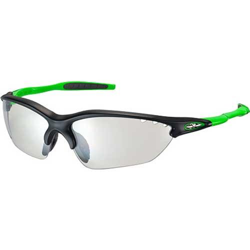 OGKカブト ビナートX フォトクロミック マットブラックグリーン/クリア 調光レンズ