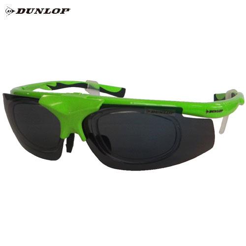 ダンロップ DU-019 蛍光グリーン (はね上げタイプ) 無料度付レンズ付きサングラス