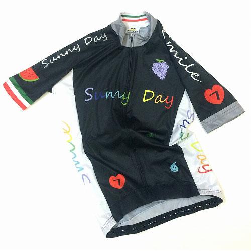 セブンイタリア Sunny Day レディース Jersey ブラック