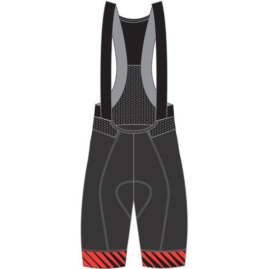 【特急】ピナレロ FRC F8 ビブパンツ ブラック/レッド