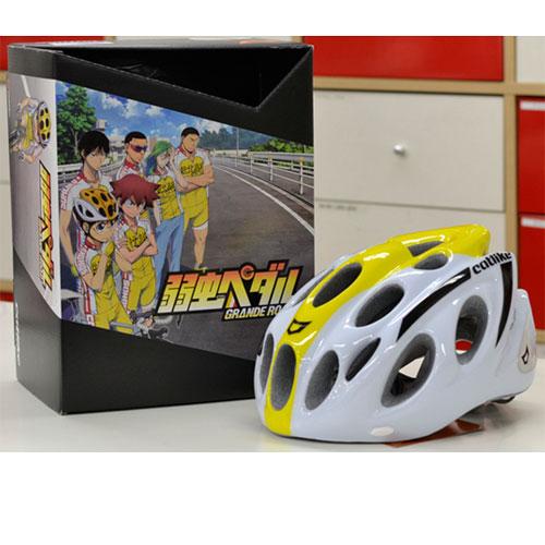 【現品特価】カットライク Kompacto (コンパクト) ホワイト/イエロー ヘルメット 弱虫ペダル 小野田坂道モデル