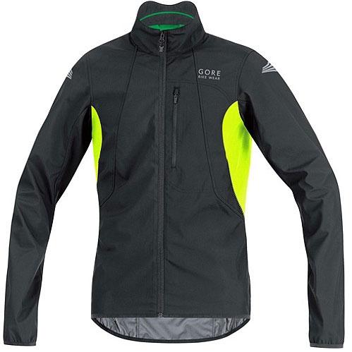 ゴアバイクウェア ELEMENT WINDSTOPPER Active Shell Jacket ブラック/ネオンイエロー
