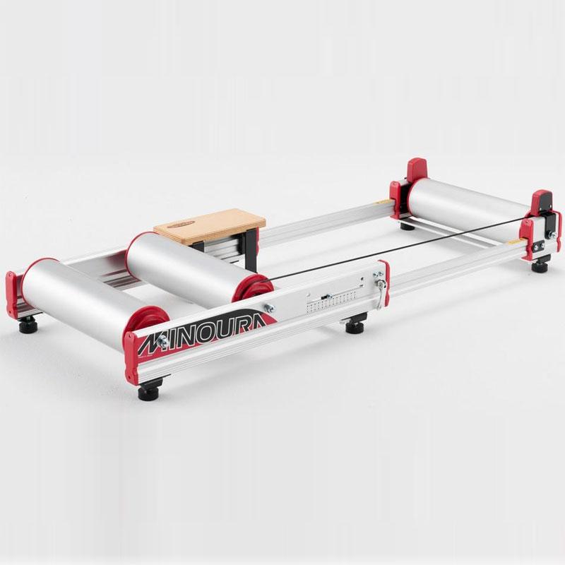 【特急】■ミノウラ R720 LiveRoll フロントホイールガード付 3本ローラー台