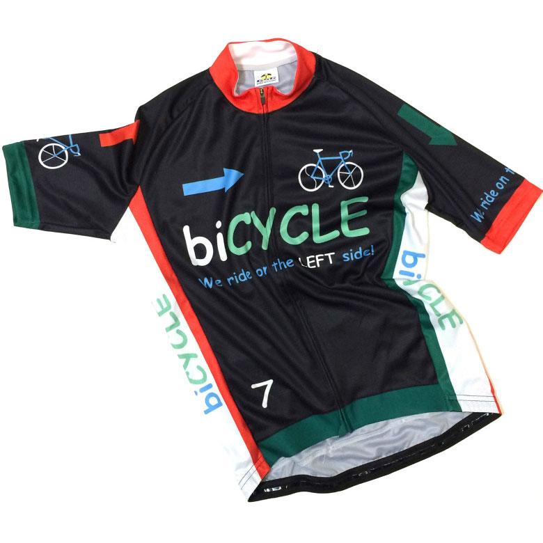 セブンイタリア biCYCLE Jersey ブラック/イタリー