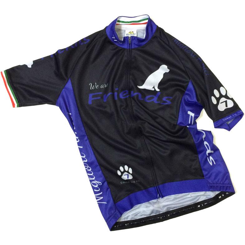 【超現品特価】セブンイタリア Friends Dog Jersey ブラック/ブルー 0724