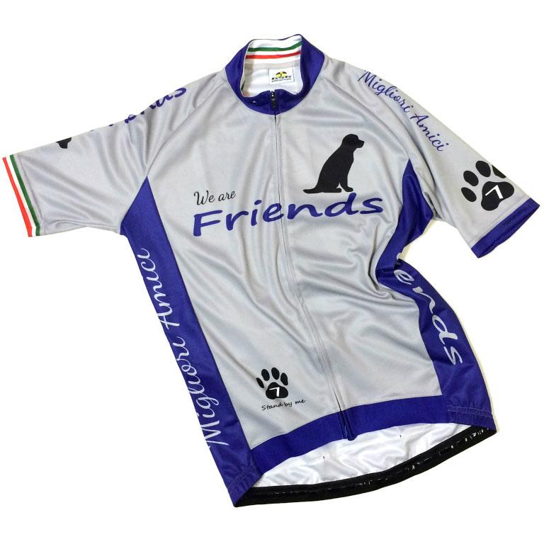 セブンイタリア Friends Dog Jersey グレー/ネイビー