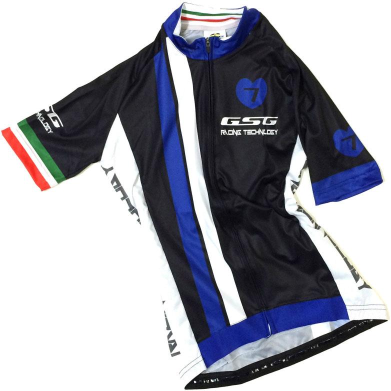 セブンイタリア GT-7R レディース Jersey  ブラック/ネイビー