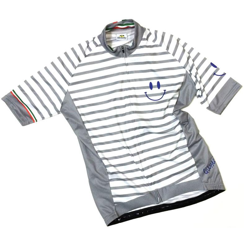 セブンイタリア Marine Smile Jersey ホワイト/グレー