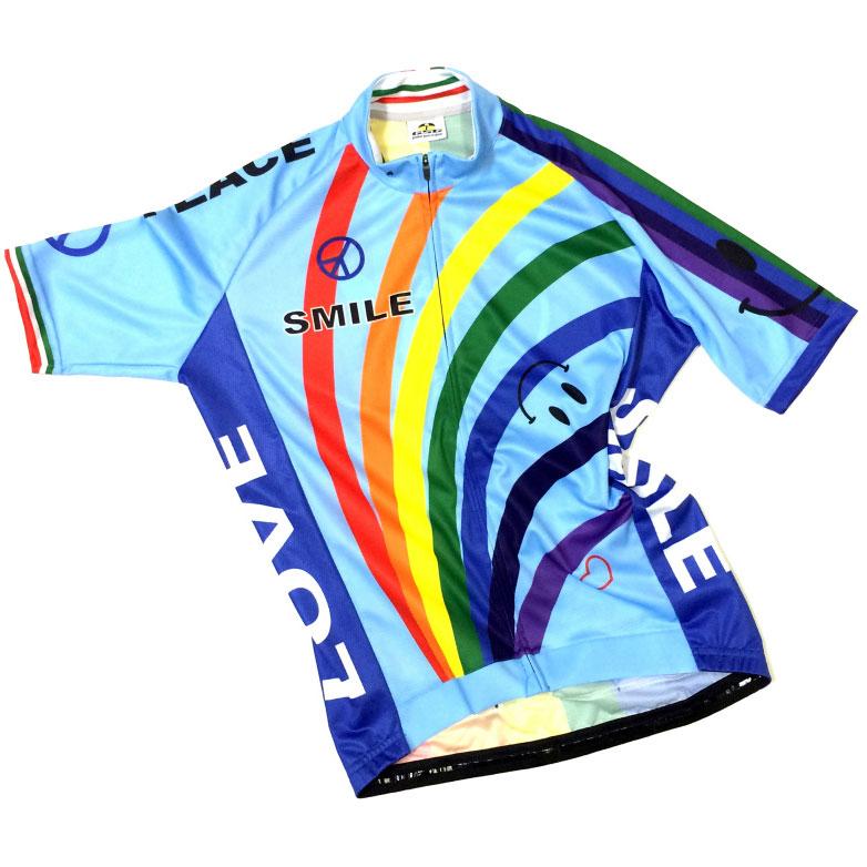 セブンイタリア Rainbow Smile Jersey スカイブルー