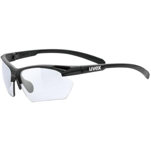 ウベックス スポーツスタイル 802 small v ブラックマット サングラス(調光レンズ)
