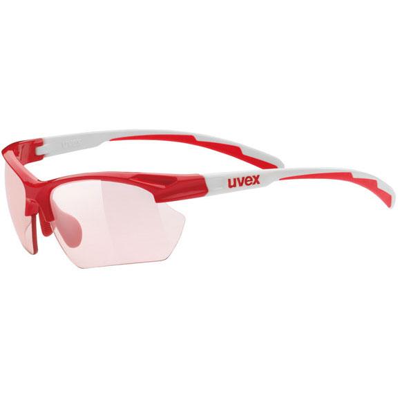 ウベックス スポーツスタイル 802 small v レッドホワイト サングラス(調光レンズ)