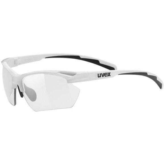 ウベックス スポーツスタイル 802 small v ホワイト サングラス(調光レンズ)