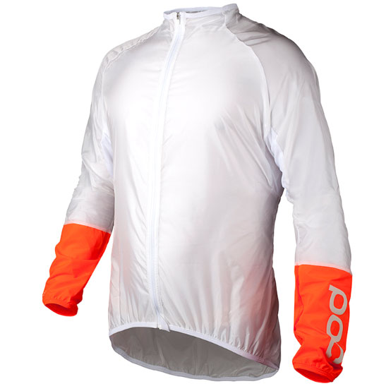 POC AVIP Light Wind Jacket(エイヴィップ ライト ウィンド ジャケット) Hydrogen White/Zink Orange