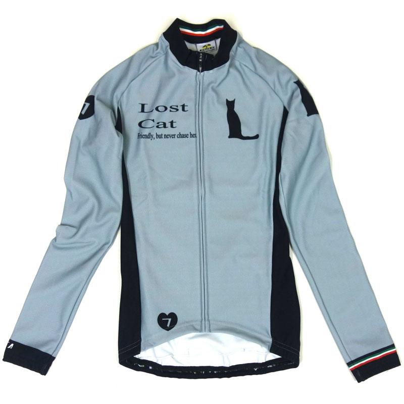 セブンイタリア Lost Cat LS Jersey Grey/Black レディース