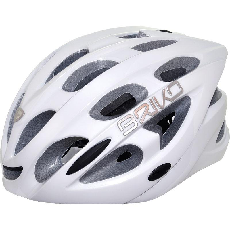 ブリコ クウォーター シャイニーホワイト ヘルメット