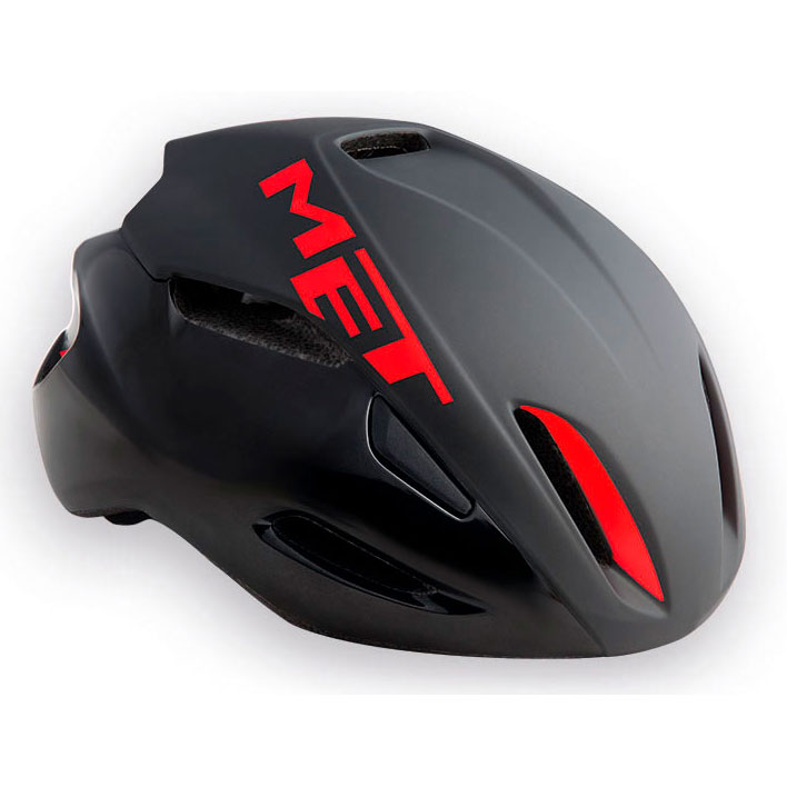 メット マンタ HES ブラック×レッド ヘルメット