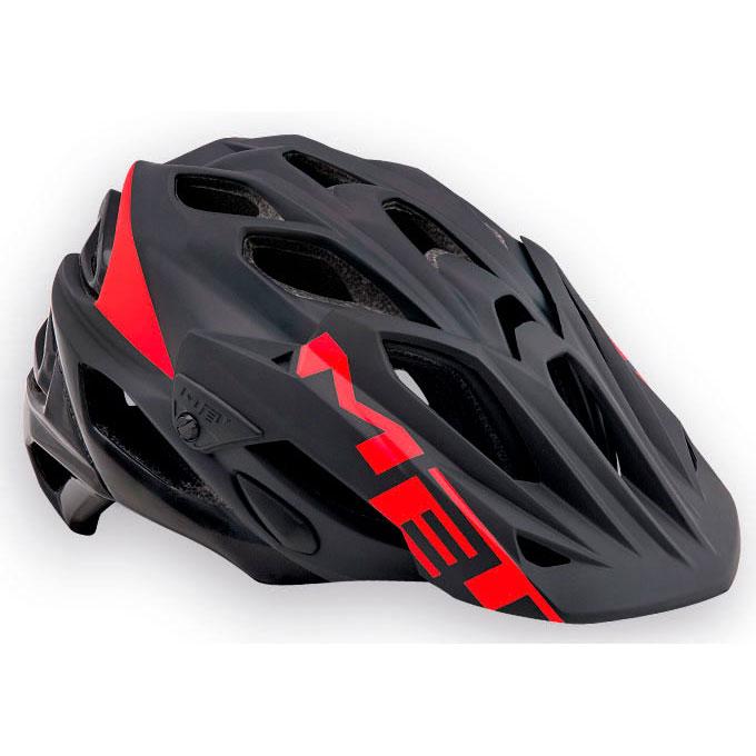 メット パラベリウムHES ブラック×レッド ヘルメット