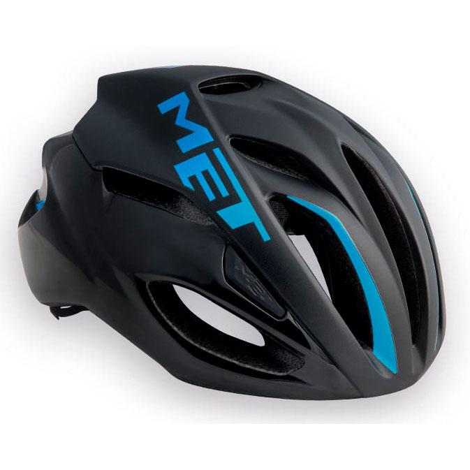 メット リヴァーレ HES ブラック×シアン ヘルメット