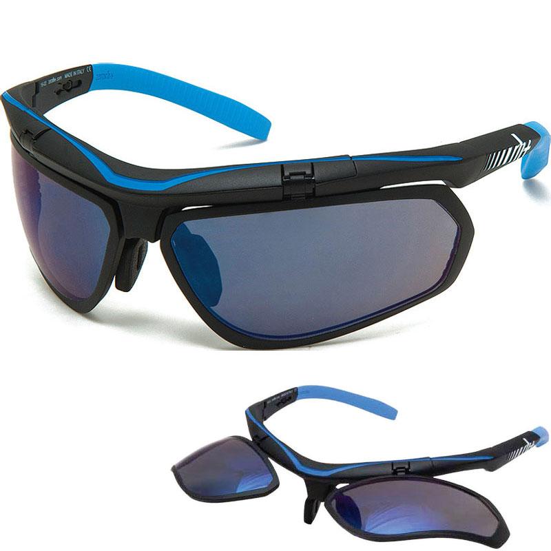 zerorh+ RH863 OLYMPO Air X 13マットブラック/ライトブルー サングラス
