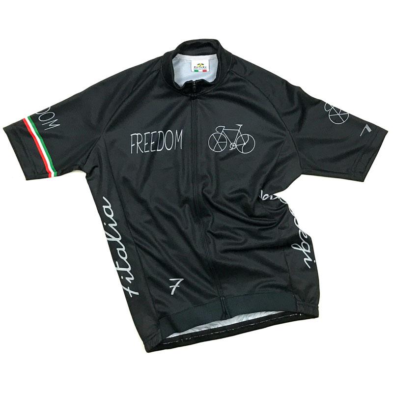 セブンイタリア Freedom Bicycle Jersey ブラック