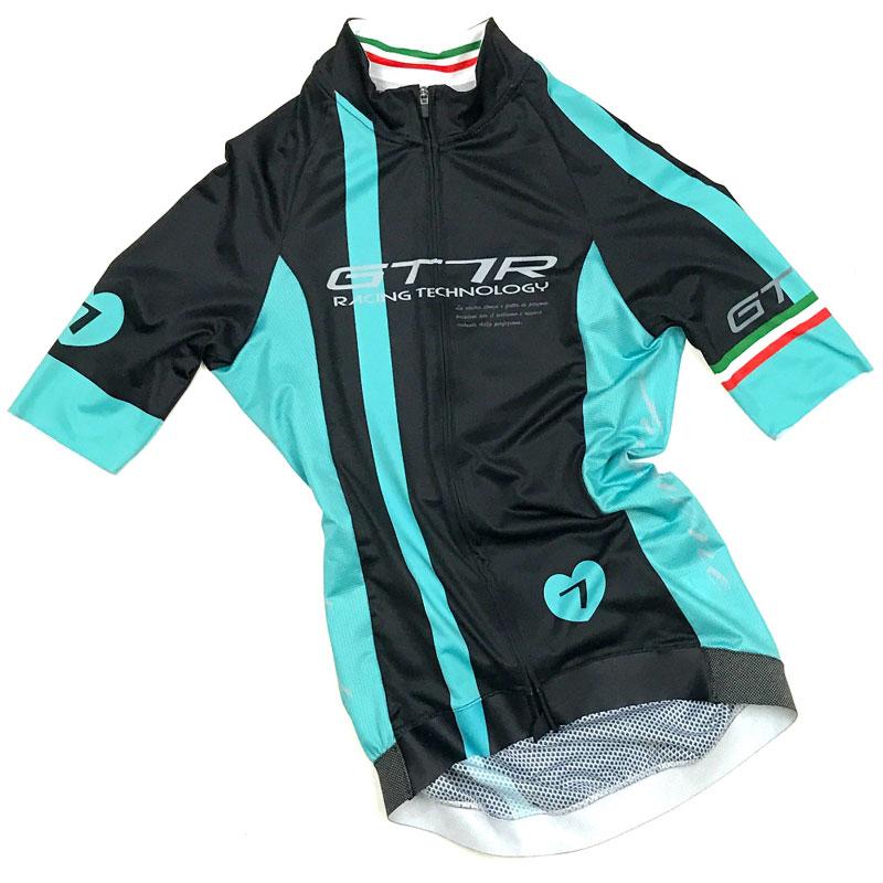 セブンイタリア GT-7RR レディース Jersey ブラック/チェレステグリーン