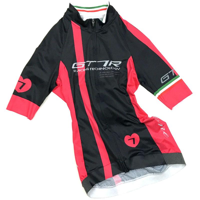 セブンイタリア GT-7RR レディース Jersey ブラック/レッド