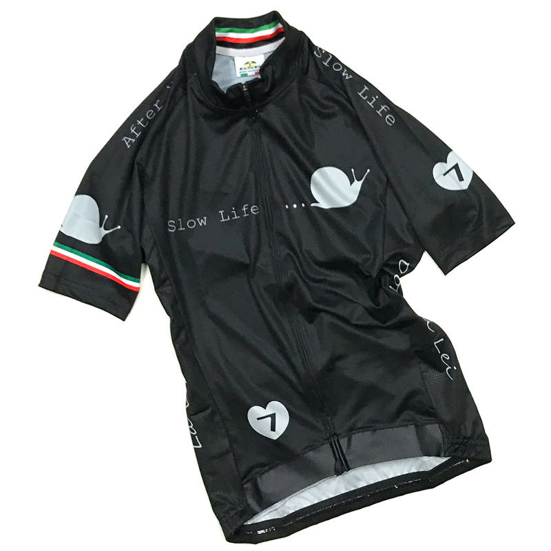 【超現品特価】セブンイタリア Slow Life レディース Jersey ブラック 0724